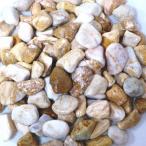 玉砂利庭ガーデニング砕石イエロー黄色化粧玉石(0.8kgサンプル)