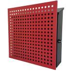郵便ポスト郵便受けおしゃれかわいい人気北欧モダンデザイン大型メールボックス 壁掛け鍵付きマグネット付きレッド赤色ポストpm207