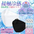 【在庫処分セール】 マスク 不織布 カラー KF94 冷感マスク 冷感不織布マスク 30枚 ひんやりマスク 接触冷感 プリーツ式 ウイルス対策 韓国 送料無料 セール