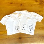 3人兄弟姉妹でおそろい  コーヒーカップ S×M×L プリント  Tシャツ3枚組ギフトセット   出産祝い プレゼント
