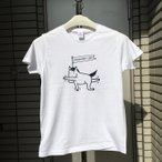 【サンプル特価1点ものz007】馬ヨガTシャツ〈ホワイト・メンズM〉 /メール便送料無料