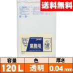 【送料無料】業務用ゴミ袋【120L・透明・0.04mm・DK93】ケース[10枚×20冊] ジャパックス