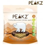 PEAKZ ピークズ ヘルシーチョコスナック クランチーチョコ 塩キャラメル 10袋 10701003