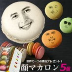 写真で作る 顔マカロン 5個入 フェイスマカロン ギフト 記念日 誕生日 お菓子 ハロウィン おもしろ
