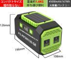 【送料無料】ポータブル電源 45000mAh/167Wh 家庭用蓄電池 三つの充電方法 ソーラー充電 <グリーン&ブラック>