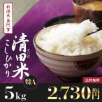 29年産 新米5kg 新潟県奥阿賀産 清田米コシヒカリ【送料無料】