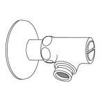 INAX【CF-92】 壁・床配管用専用止水栓(クイックジョイント用)