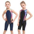 SUCCUL 競泳水着 ジュニア女の子 フィットネス 水着 子供 オールインワン スイミング スイムウェア トレーニング 水泳 ジム プール スパッツスーツ 9069