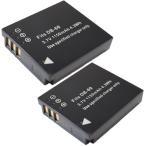 2個セット リコー(RICOH) DB-60 / DB-65 / パナソニック(Panasonic) DMW-BCC12  互換バッテリー
