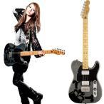 "Squier by Fender HARUNA TELECASTER DARK SILVER SPARKLE ""Skullsilver"""