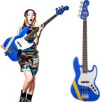 "Squier by Fender TOMOMI JAZZ BASS SKY BLUE ""Bluetus"""