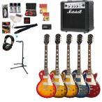 エレキギター初心者セット エピフォン/ Epiphone Les Paul Standard Plus-top PRO + MG10CF ギター初心者アクセサリーセット