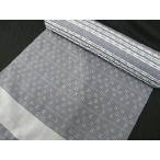 173●琉球絣調花織 ●正絹青ネズ色反物●手縫い仕立てで裄71cmまで