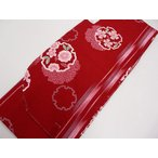 ショッピング卒業式 卒業式 入学式に 洗える 二尺袖 着物 袴 赤地に桜雪輪 022
