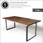 ダイニングテーブル 幅180cm 6人掛け アイアン 無垢材 北欧風 一枚板風 おしゃれ gkw