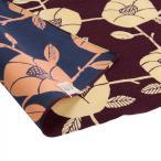送料無料 京の両面おもてなし ふろしき 中巾 椿 紫根色 しこんいろ 14-054106