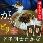 辛子明太たかな120g×2袋福岡県産高菜100%使用 ご飯のお供にお茶漬けに 酒の肴にも だんらん 日曜の晩ごはん