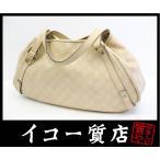 グッチ グッチ・シマ ショルダートートバッグ 130736 レザー ベージュ 直営店購入品