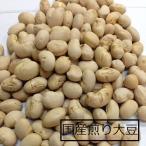 国産 素煎り大豆 1kg 節分豆  福豆 鬼の面3枚付き