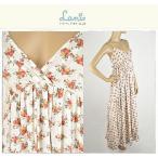 Lani ラニ Flower Print Maxi Dress 小花マキシワンピ E007F マキシ丈プリントドレス ワンピース 正規品