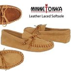MINNETONKA �ߥͥȥ� LEATHER LACED SOFTSOLE ��� �쥶�� �졼�� ���եȥ����� �⥫���� ������  so1