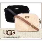 アグ UGG シープスキン ショルダーバッグ クレア ボックス ジップ CLAIRE BOX ZIP ムートンショルダーバッグ ブラック ブラウン 1014543正規品取扱店舗