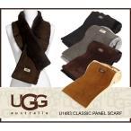送料無料 UGG ムートンマフラー UGG CLASSIC PANEL SCARF クラシック パネル スカーフ シープスキンマフラー u1483 (正規品取扱店舗)