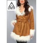 UNIF Clothing ユニフ The Bridget Coat ファーコー スエード風コー コート 正規品