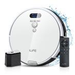 ILIFE アイライフ V8eロボット掃除機 大容量ダストボックス 強力吸引 エレクトロウォール付き 静音 フローティング吸引口  ホワイト