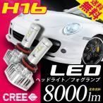 H4 LEDヘッドライト 左右合計8000lm CREEチップ搭載 6000K H/L切替