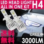 H4 LEDヘッドライト Hi/Lo切替 CREEチップ採用 6000K/3000LM  一体型/オールインワンキット