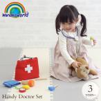 お医者さん お医者さん セット お医者さん ごっこ おもちゃ 木のおもちゃ ワンダーワールド ハンディー ドクターセット  TYWW4558