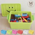 Yahoo!出産祝いと子供雑貨アイラブベビーお片付けボックス 収納ボックス 小物入れ おもちゃ箱 スタッキング プレイオン スマイルボックス Mサイズ