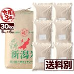 米 玄米 30kg 岩船産コシヒカリ 令和2年産 小分け6袋 送料別