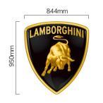 ランボルギーニ Lamborghini エンブレム カラーステッカー 幅844mm×縦950mm - 10,450 円