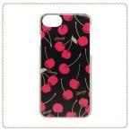 iPhone8 iPhone7 iPhone6s ケース ゴールドラメケース チェリー SCP8042-BK ブラック キラキラ iPhoneケース おしゃれ 人気 ハードケース