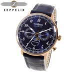 【送料無料】ツェッペリン ヒンデンブルク クオーツ メンズ 腕時計 7038-3 ネイビー(517683)