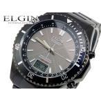【送料無料】エルジン ELGIN ソーラー 電波 腕時計 FK1371B-BP ブラック(252495)