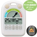 ショッピング赤ちゃん 温湿度計:赤ちゃん用デジタル温湿度計「メリー」N-025〜〒郵送可¥320