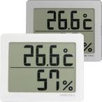温度と湿度を大画面でデジタル表示するシンプルな温湿度計!