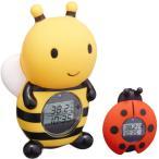 湯温計:パパジーノ時計付お風呂用温度計(みつばち)RBTM002〜〒郵送可¥320