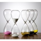 砂時計:シンプルな30分計のガラス砂時計:白色