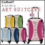 スーツケース キャラート アートスーツケース プロフィトロール ゆるり1(真紅)  機内持込 CRA01-009C 代引不可 同梱不可