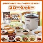 スロークッカー グリル鍋 レシピ付 3.0 L TWINBIRD ツインバード EP-4717BR ブラウン コトコト煮込んで美味しさを引き出す