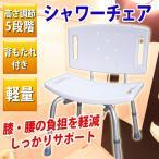 シャワーチェア お風呂椅子 SunRuck SR-SBC002 バスチェア 背もたれ サポート椅子 介護椅子 軽量 丈夫 コンパクト 簡単組立 送料無料