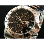 エルジン ELGIN ダイバーズ 腕時計 クロノグラフ メンズ FK1184PG-B ピンクゴールド×シルバー メタルベルト