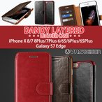 iPhone7/7Plus Galaxy S7 edge ケース VERUS プレミアムレザー手帳型ケース iPhone6S ケース DANDY LAYERED【送料無料】iPhoneSE ケース