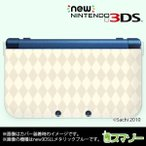 (new Nintendo 3DS 3DS LL 3DS LL ) かわいいGIRLS 16 アーガイルチェック パステルホワイト カバー