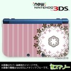 (new Nintendo 3DS 3DS LL 3DS LL ) かわいいGIRLS 27 レース6 パステルピンク カバー