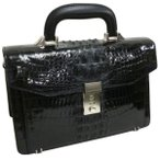 Santa Maria サンタマリア製 クロコダイルバッグ セカンド ワニ革 艶有り背鰐HB(N8886S)